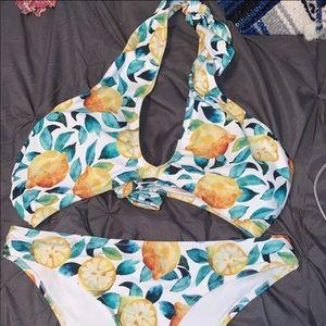 Cupshe bikini with lemons on it!